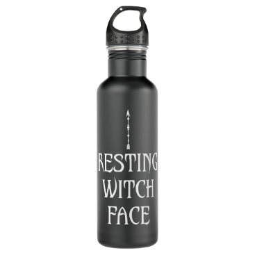 Resting Witch Face Water Bottle