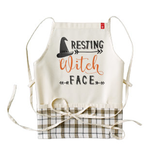 resting witch face zazzle HEART apron