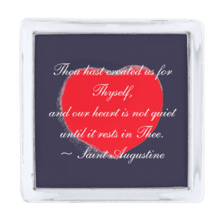 Restless Heart  - Saint Augustine ~ Lapel Pin