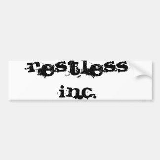 RestLess Inc. Pegatina Para Auto