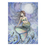 Restless Tide Mermaid Fantasy Poster Print