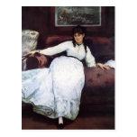 Resto de Eduardo Manet-The, retrato de Berthe Mori Postales