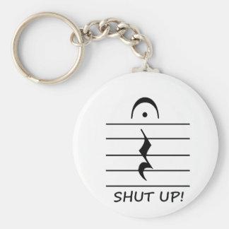 Resto de la notación de música con cerrado para ar llavero redondo tipo pin