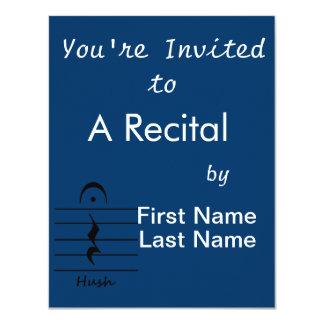 Resto de la notación de música con silencio invitación 10,8 x 13,9 cm