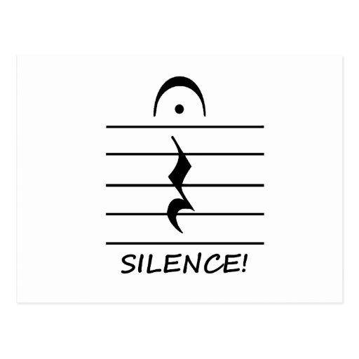 Resto de la notación de música con silencio postales