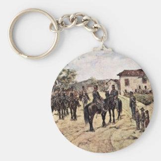 Resto de la unidad de la caballería de Fattori Llavero Redondo Tipo Chapa