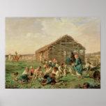 Resto durante hacer heno, 1861 posters