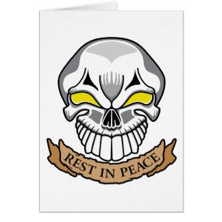 Resto en cráneo de la paz felicitaciones