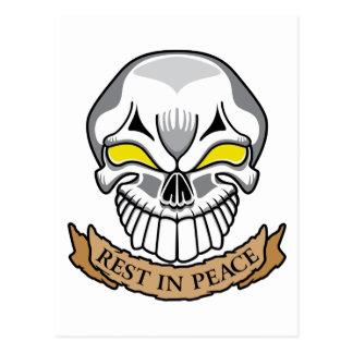 Resto en cráneo de la paz postal
