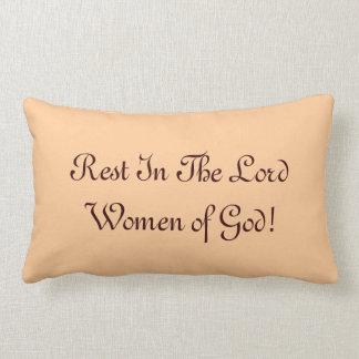 ¡Resto en el señor Women de dios! Cojín