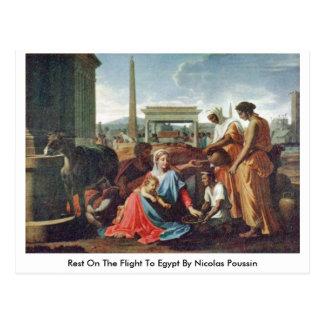 Resto en el vuelo a Egipto de Nicolás Poussin Postales