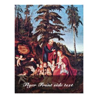 Resto en el vuelo por Cranach D. Ä. Lucas (el mejo Tarjetas Publicitarias