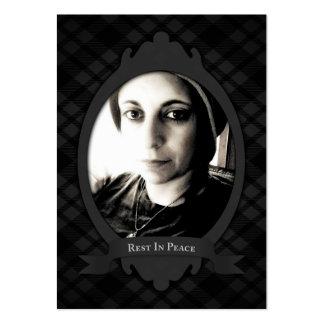 resto en invitaciones del funeral de la paz tarjetas de visita grandes