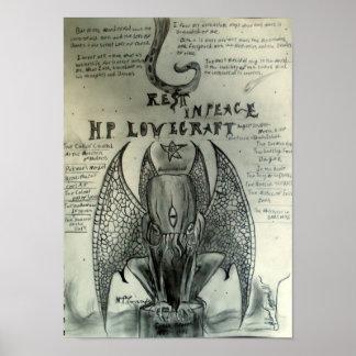 Resto en la paz H.P. Lovecraft Póster