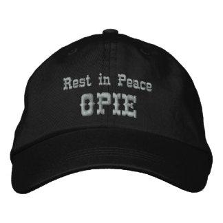 Resto en la paz Opie Gorra De Beisbol Bordada