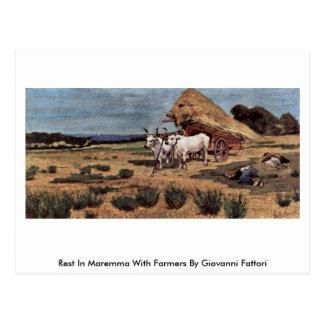 Resto en Maremma con los granjeros de Giovanni Fat Tarjeta Postal