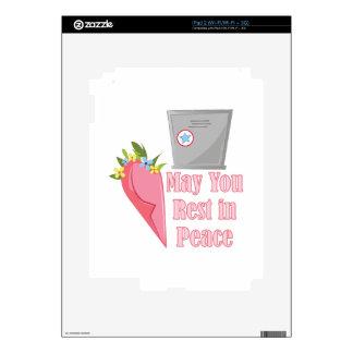 Resto en paz calcomanía para iPad 2