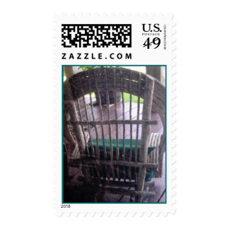 Resto pacífico - sello de la postal