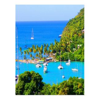Resto para la Santa Lucía futura del Caribe del éx Postales
