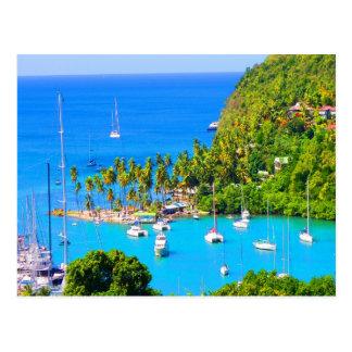 Resto para la Santa Lucía futura del Caribe del éx Tarjeta Postal