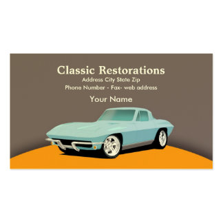 RestoMod Double-Sided Standard Business Cards (Pack Of 100)