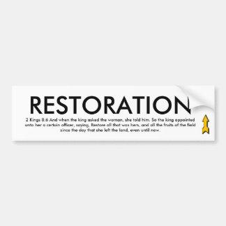 RESTORATION Bumper Sticker