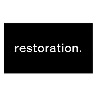 Restoration Business Card Template
