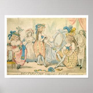 Restoration Dressing Room c.1789 Poster