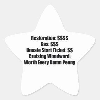 Restoration Gas Unsafe Start Ticket Cruising Sticker