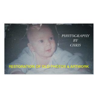 Restoration Of Old Photos & Artwork Business Card