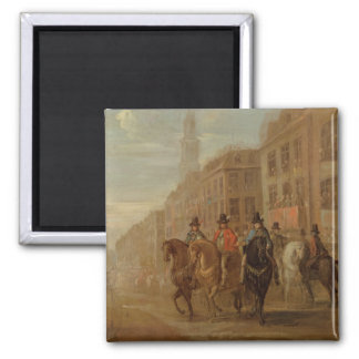Restoration Procession of Charles II at Cheapside, 2 Inch Square Magnet