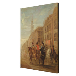 Restoration Procession of Charles II at Cheapside, Canvas Print