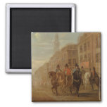 Restoration Procession of Charles II at Cheapside, Refrigerator Magnets