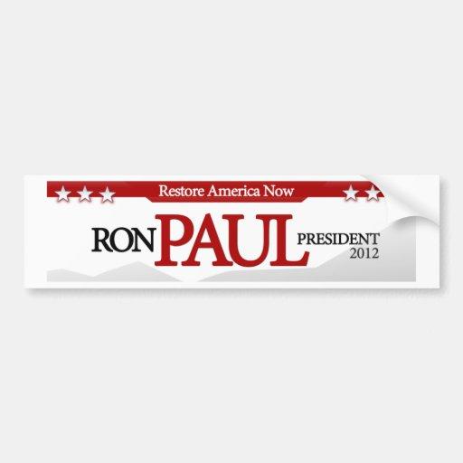 Restore America Now Bumper Stickers