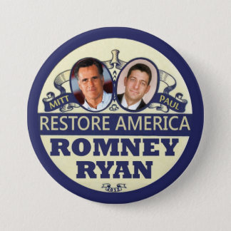 Restore America: Romney & Ryan Button