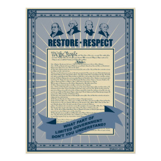 Restore And Respect The Constitution Poster