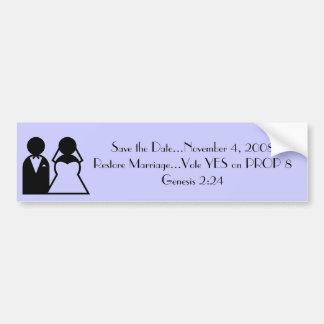 RESTORE MARRIAGE BUMPER STICKERS