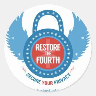 Restore the 4th Swag Classic Round Sticker