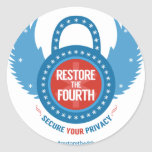 Restore the 4th Swag Round Stickers