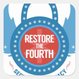 Restore the 4th Swag Square Sticker