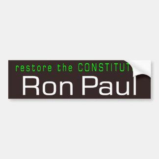 restore the Constitution Car Bumper Sticker
