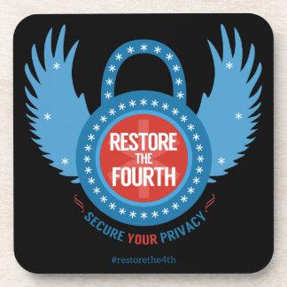 Restore The Fourth Beverage Coaster