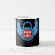 Restore The Fourth Classic White Coffee Mug (<em>$16.85</em>)