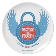 Restore The Fourth Melamine Plate (<em>$26.35</em>)
