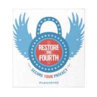 Restore The Fourth... Note Pad (<em>$10.50</em>)