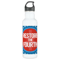 Restore The Fourth Stainless Steel Water Bottle (<em>$26.35</em>)