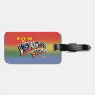 Restore the Jersey Shore luggage tag