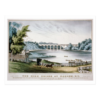Restored antique High Bridge at Harlem NY Postcard