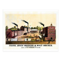 Restored antique New Hampshire Brewery litho Post Card