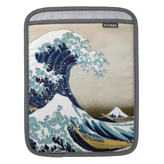 Restored Great Wave off Kanagawa by Hokusai Sleeve For iPads